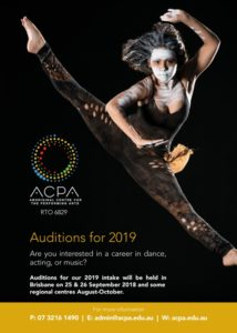 Indigenous training options ACPA auditions