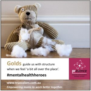 True Colors Gold mental health heroes